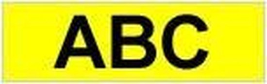 Brother Gloss Laminated Labelling Tape - 6mm, Black/Yellow TX labelprinter-tape