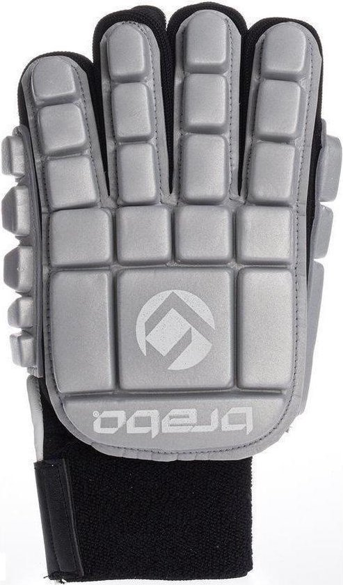 Brabo BP1064 Foam Glove F3 Indoor Jr. - Zaalhockeyhandschoen - Links - Maat XS - Zilver