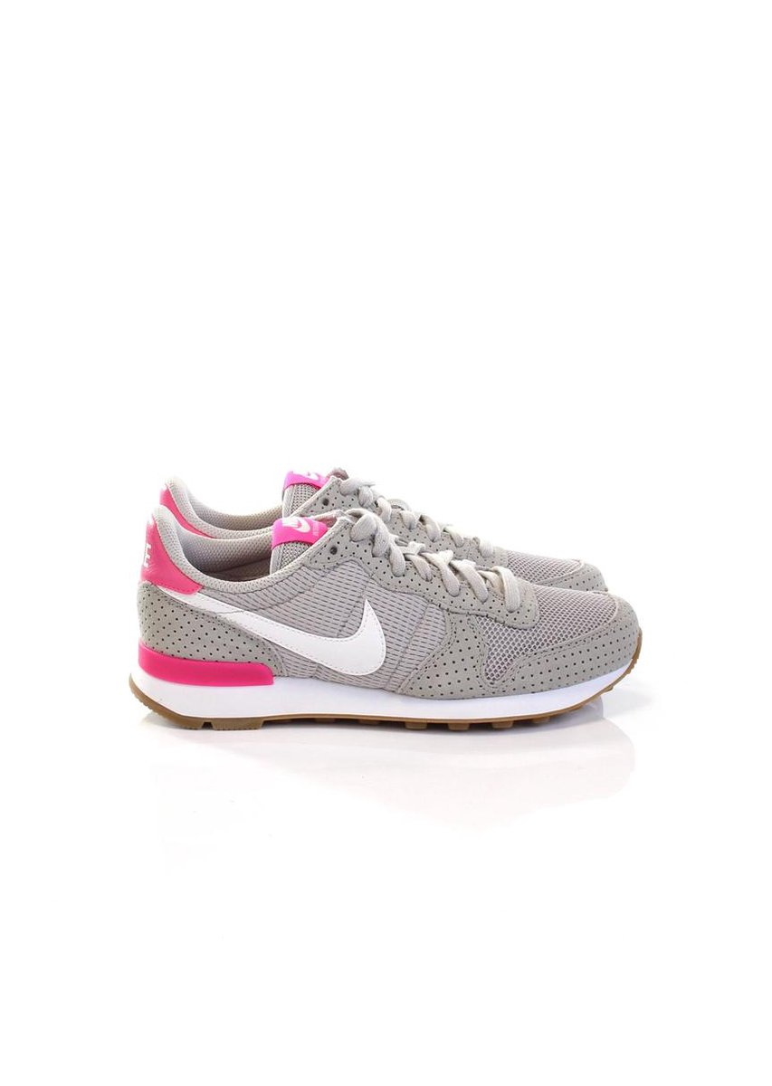 nike internationalist grijs roze