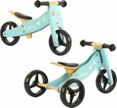 2Cycle 2 in 1 Loopfiets/Driewieler - Hout - Turquoise