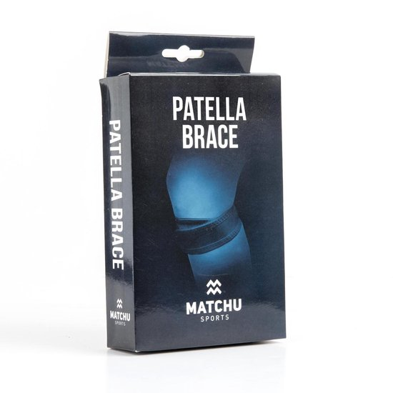 Matchu Sports - Patellabandje - Patella Brace - Zwart - Universeel - Matchu Sports