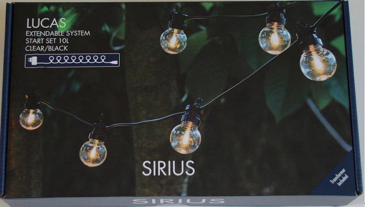 Tuinverlichting Sirius - START SET Tuin verlichting Clear/ Black verlengbaar snoer - Feestverlichtin