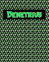 120 Page Handwriting Practice Book with Green Alien Cover Demetrius