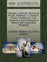 Flaxman, Coleman, Gorman & Rosoff, Petitioner, V. Crules R. Cheek, Trustee, Etc. U.S. Supreme Court Transcript of Record with Supporting Pleadings