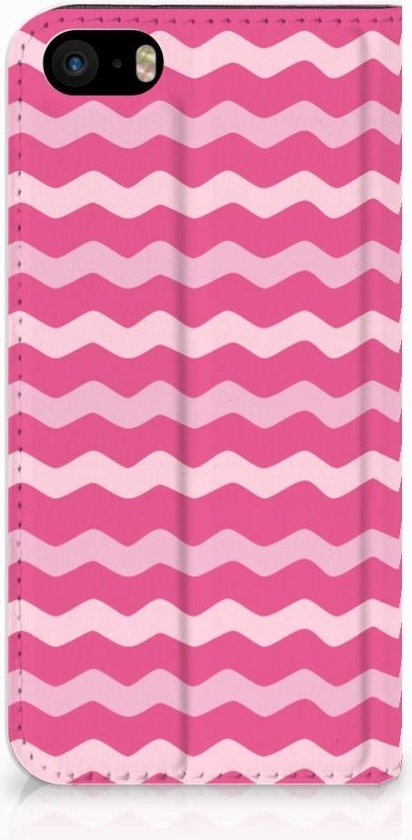 Design Hoesje iPhone SE Waves Pink