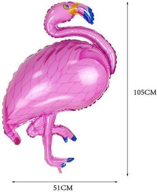 Helium ballon flamingo 105 cm (leeg)