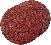 Geperforeerde klittenband schuurvellen, 10 Stuks 150 mm 4 x 60, 2 x 80, 120, 240 korrelgrofte