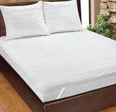 Homéé® Plateau Matrasbeschermer doorgestikt - matrasoplegger - eenpersoons 80x200 +30 cm - wit 