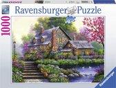 Ravensburger puzzel Romantische cottage - Legpuzzel - 1000 stukjes