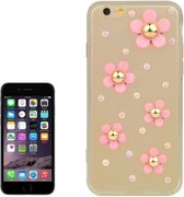 iphone 6 / 6s (4.7 inch) TPU Cover, hoesje, case 3D flowers