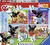 Ravensburger Bing Bunny - My First puzzels - 2+4+6+8 stukjes - kinderpuzzel