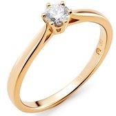 Orphelia RD-3920/54 - Ring - Goud 18 kt - Diamant 0.2 ct - 17.25 mm /  maat 54