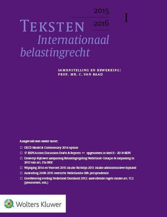 Teksten internationaal belastingrecht 2015/2016 - C. van Raad  