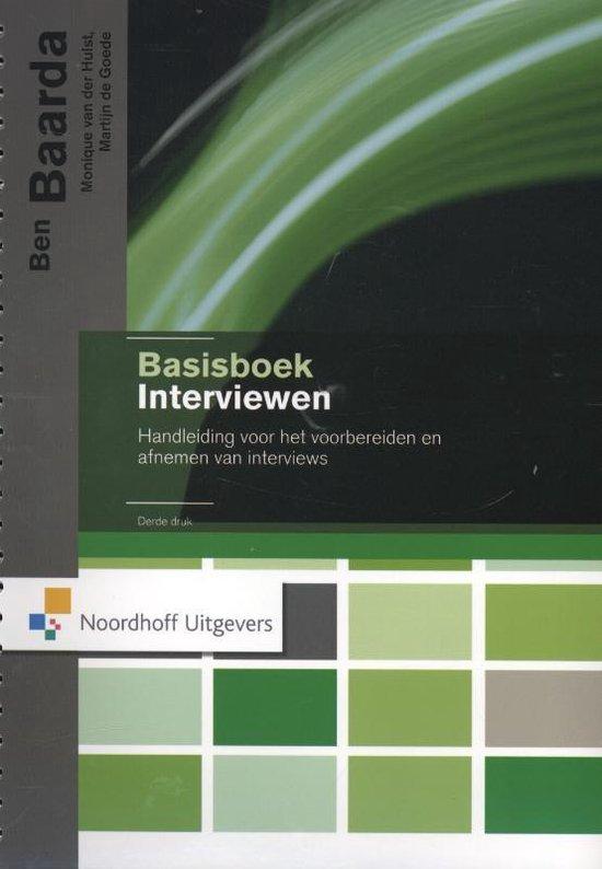Basisboek interviewen - Ben Baarda |