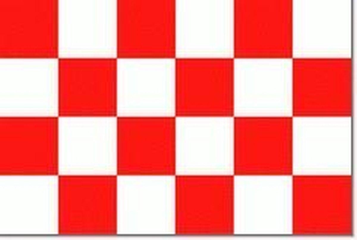 Noord-Brabantse vlag   vlaggetje NB 10x15cm - Vlaggenclub