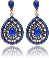 Jillery Oorbellen - Vintage - Bohemian Style - Blauw