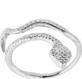 24/7 Jewelry Collection Slang Ring Verstelbaar - Verstelbare Ring - Zilverkleurig