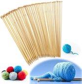 Bamboe Hout Breinaaldenset 36 Stuks - Ergonomische Breinaald / Breinaalden Set AA COMMMERE