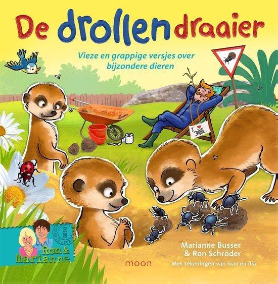 Boek cover De drollendraaier. Vieze en grappige versjes over bijzondere dieren van Ron Schroder (Hardcover)
