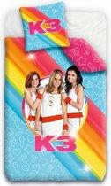 K3 dekbedovertrek - Eenpersoons - 140x200 cm - Multicolour