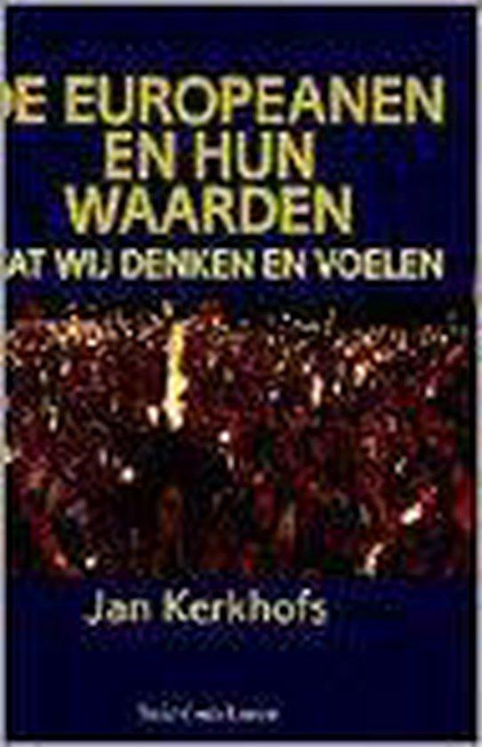 Boek cover De Europeanen en hun waarden van J. Kerkhofs (Paperback)