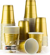 100 American Gold Cups - 500ml Gouden Party Bekers - Original  Beer Pong