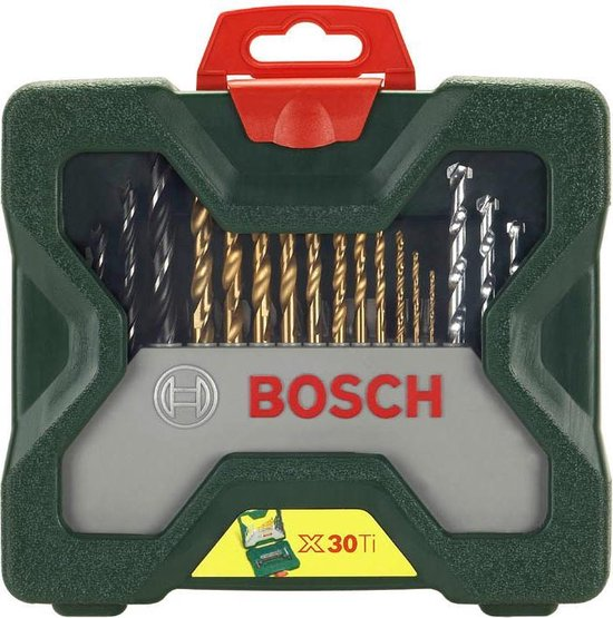 Bosch X-Line borenset - 30-delig - Titanium Plus Serie - Voor hout, metaal en steen