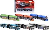 Afbeelding van Majorette Die-Cast Bus of Tram 20 cm Assorti