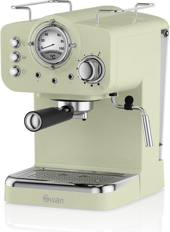 Swan Nordic Espressomachine Groen met Stoompijpje