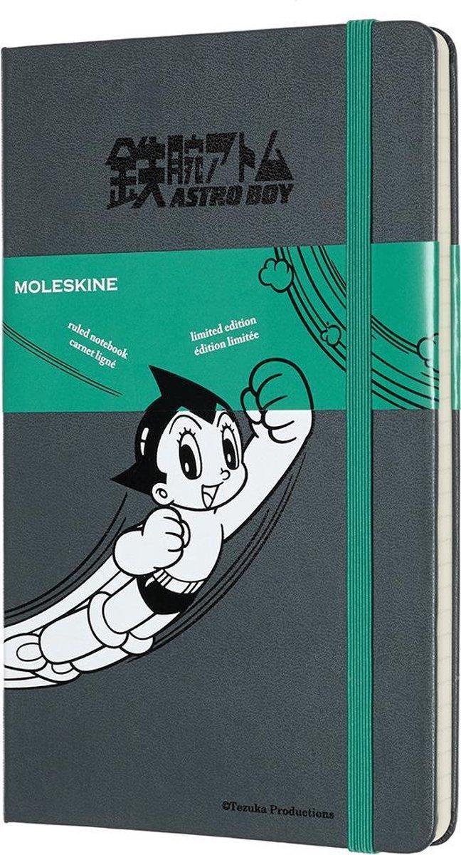 Moleskine Limited Edition Notitieboek- Astro Boy Large Gelinieerd Dark Grey