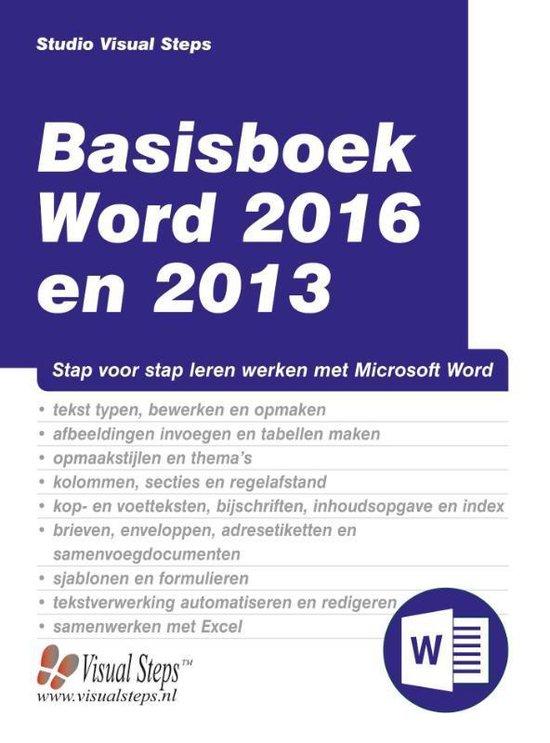 Basisboek Word 2016 en 2013 - Studio Visual Steps |