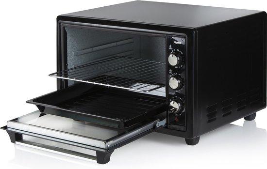 Primo PR250OV Mini Oven - Bakoven met Hetelucht- & Grillfunctie - Vrijstaand -  34L - Zwart