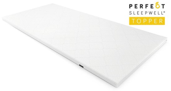 Sleepwell© Topper - Traagschuim Topdek matras - 6cm Hoog - 180x200cm - Wasbare Hoes &  Aloë Vera - Perfectmatras