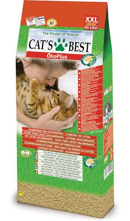 Cat's Best Öko Plus - Kattenbakvulling - 40 ltr - Cat's Best