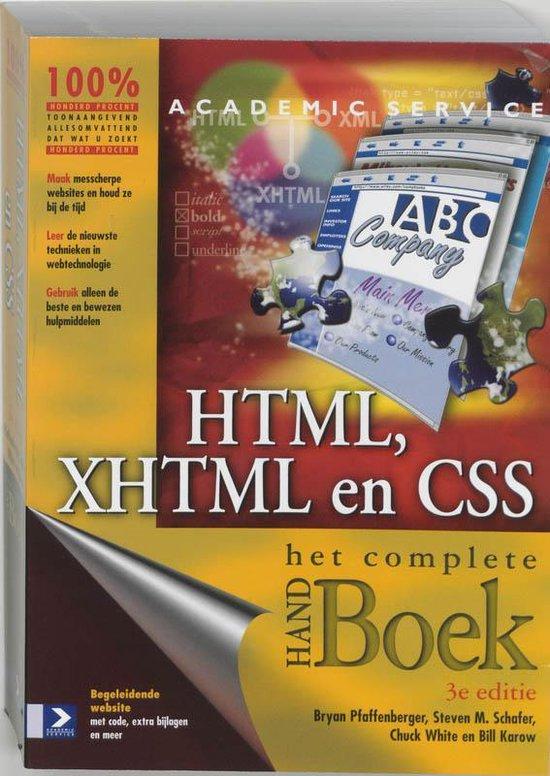 Cover van het boek 'HTML, XHTML en CSS'