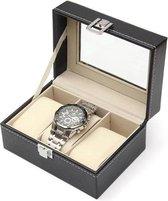 DisQounts Horlogebox - Zwart - Geschikt voor 3 horloges