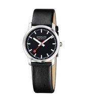 Mondaine Simply Elegant A400.30351.14SBB Horloge - Leer - Zwart - Ø36 mm