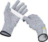 Snijwerende handshoenen – Snijbestendige handschoen - Oesterhandschoen – Slagershandschoen – Werkhandschoenen – Tuinhandschoenen - Nylon Klasse 5 EN388 – Maat M