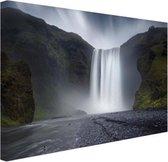 Waterval Canvas 120x80 cm - Foto print op Canvas schilderij (Wanddecoratie woonkamer / slaapkamer)
