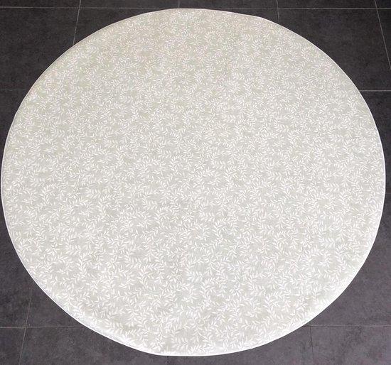 Bonita Tafelzeil - Rond 160 cm - Flowers - White