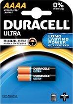 16x Duracell batterijen Ultra Power AAAA, blister a 2 stuks