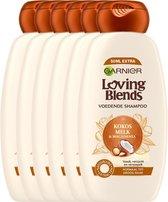 Garnier Loving Blends Voedende Shampoo - Kokosmelk & Macadamia - 6 x 300 ml - Voordeelverpakking