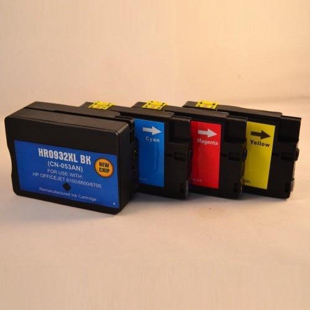 Merkloos - Inktcartridge / Alternatief voor de HP 932 en 933 / Multipack - Merkloos