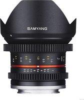 Samyang 12mm T2.2 NCS CS VDSLR SLR Ultra-groothoeklens Zwart