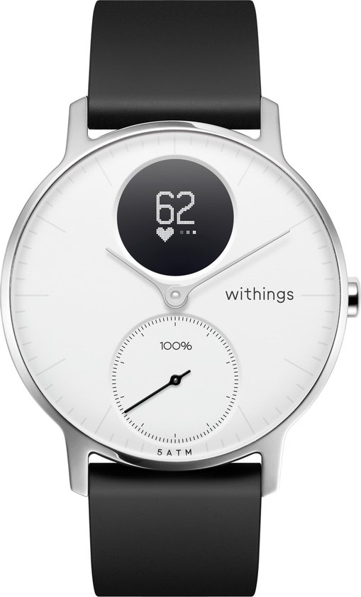 Withings Steel HR - Hybride Smartwatch - Wit - Ø 36mm