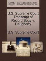 U.S. Supreme Court Transcript of Record Bogy V. Daugherty