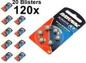 120 Stuks (20 Blisters a 6st) - Rayovac Acoustic HA13 / 13 / PR48 / ZL2 310mAh 1.4V gehoorapparaat batterij