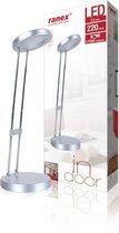 Ranex 6000.637 Febe - Bureaulamp - Zilver - Geïntegreerd LED - 220lm - 2,5W