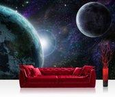 """Fotobehang """"Heelal, planeten, ruimte avontuur"""" vliesbehang 300x210cm"""