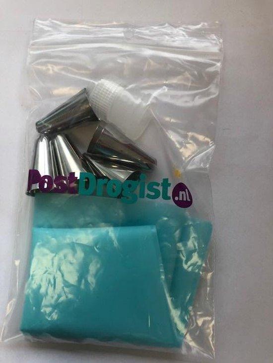 Siliconen Slagroom Spuitzak Met 6 Spuitmondjes - Herbruikbaar - Garneerspuit - postdrogist